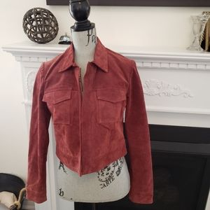 Jackets & Blazers - Rusty red genuine suede jacket small/medium